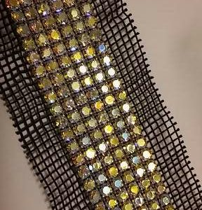 Quilting Fabric and Rhinestone Trim 018