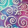 201543-2-040 - Turquoise/Pink Batik with tan swirl design - BACK IN STOCK JULY 6