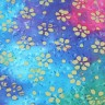 Batiks-035 - Turquoise/Pink Batik with flower design - BACK IN STOCK SEPT 29