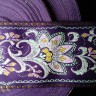 JAQ70468 - 2 1/4 Floral Purple Jacquard Trim""