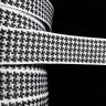 JAQ71564-1  - 7/8 Black on White Houndstooth""