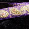 JAQ70465 -  3/4 Purple Paisley Jacquard Trim""