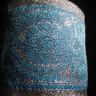 "JAQ71234 - 4 1/8 Turquoise and Silver Metallic Jacquard Trim"""