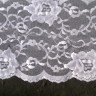 SL7641 - 5 1/8 White Galloon Floral Stretch Lace""